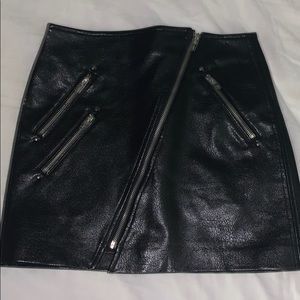 Blank NYC leather skirt